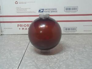 Vintage Ruby red/ purple? Glass Lightning Rod Ball with end cap