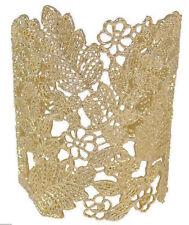 """Gold leaf flower Hollow design 3"""" Adjustable Bangle Cuff Bracelet"""
