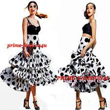 Dolce & Gabbana Flamenco inspired High Waisted Poplin Tiered Polka Dot Skirt