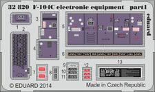 Eduard 1:32 F-104 C Slectronic Equipment for Italeri Color PE Detail Set #32820
