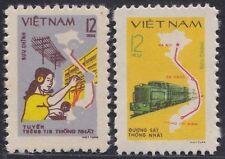 VIETNAM N°251/252** Moyens de communication, 1980 Vietnam 1082-1083 MNH