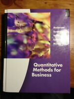 Quantitative Methods For Business by David R Anderson