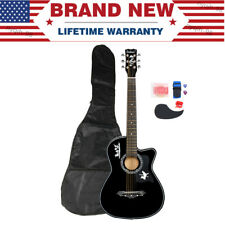 "38"" Acoustic 6 String Guitar +Bag +Tuner +Strap For Beginners Student Adult Gift"