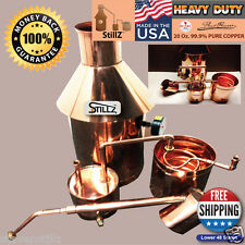 Copper Moonshine Still, Thumper & Worm - Ready to Run Kit StillZ 6 Gallon