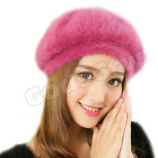 Women's Super Soft Angora Classic Pure Beanie Berets Cap  Hat