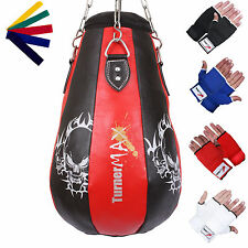 Leather Punch Bag Maize Ball Maize Punchbag Punching Bag Red BLK TurnerMAX