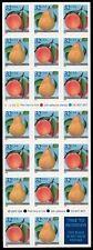 US ETATS UNIS 1995 YV N° C 2384** FRUIT PECHE POIRE PEACH CARNET BOOKLET SC 2494
