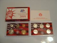 "2001-S SILVER PROOF SET in original unopened box w/COA   ""FREE MAGNIFIER"""