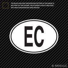 EC Ecuador Country Code Oval Sticker Decal Self Adhesive Ecuadorian euro