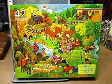 FALCON pastoral scene 1970s jigsaw puzzle NWT lederhosen locomotive Alps cartoon