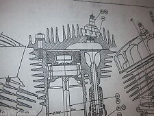 45 Flathead BOTH Engine & Transmission HARLEY DAVIDSON Blueprint poster print