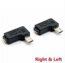 1 COPPIA MICRO USB 2.0 5Pin maschio a Donna Destra e Sinistra Ad Angolo Adattatore Estensione