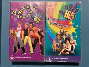 Hi-5 VHS - MAGICAL TREASURES / SUMMER RAINBOWS- PAL FORMAT *RARE* 1999