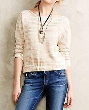 NEW Anthropologie Janine Pullover Sweate by SparrowXS  Ivory Tan