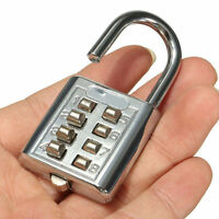 8Digit Combination Code Padlock Travel Suitcase Luggage Security Password LockHF
