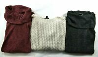 Bulk Lot of 3 The Limited Women's Size Medium Cowl Neck Long Sleeve Sweaters