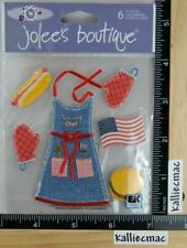 Jolee's SPRING SEASONAL BARBEQUE Boutique Stickers BACK YARD FUN