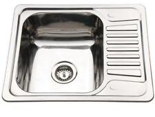 Kitchen Sink Drainer Compact Stainless Steel Small Inset 1.0 One Bowl Sinks B58