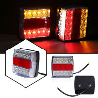 2X 16 LED TRAILER LIGHTS LIGHT TAIL STOP INDICATOR SUBMERSIBLE TRUCK LAMP