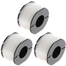 3 x 10m Strimmer Spool & Line For Black & Decker GL425 GL544 GLC1825N GLC1423L