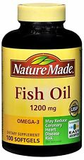 Nature Made Fish Oil 1200 mg Softgels 100 Soft Gels (Pack of 2)