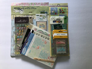 LOT 50+ ASSORTED Scrapbooking Baby Theme Pink And Blue Papers And Stickers SCB#3
