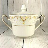 Noritake Fragrance Ivory China  Sugar Bowl Unused Delicate Flowers