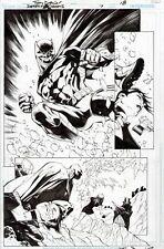 TONY DANIEL BATMAN DETECTIVE COMICS ORIGINAL ART PAGE 2/3 ACTION SPLASH PENGUIN