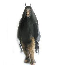Goat Devil of Hell Horned Devil Adult Latex Halloween Mask & Hairy Legs Costume