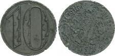 10 Pfennig 1920 Polen / Danzig  große Wertzahl  mit Echtheitszertifikat ss,korr.