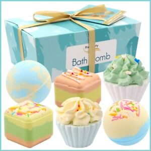 Bath Bombs Cup Cake Gift Set Present With Custom Message