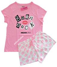 Ladies Summer Pyjamas MEAN GIRLS Women Girls T-Shirt Shorts PJ Set 6-20 Primark
