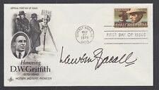Lauren Bacall, American Actress, Oscar Winner, signed D.W. Griffith FDC, Cert.