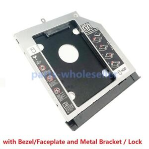 2nd Hard Drive HDD SSD Caddy Adapter for Lenovo V330-15 ISK IKB with faceplate