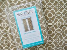 WAVERLY Lovely Lattice Cafe Back Tab Panel Beige Curtain NEW!