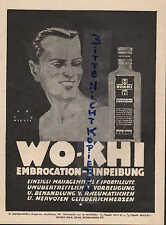 BERLIN, Werbung / Anzeige um 1925, WO-KHI Werk Sport-Massage-Mittel