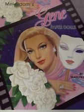 New Gene Marshall Paper Doll Book by Marilyn Henry B. Shackman Co. 2002 Uncut