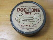 FOX RUN 3666 DOG BONE BISCUIT COOKIE CUTTER SET TIN STAINLESS STEEL RECIPE 3 PC