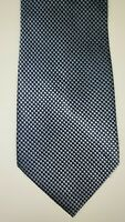 Calvin Klein Mens Blue Patterned Silk Tie Free Shipping