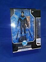 DC Multiverse Nightwing 7 Inch Action Figure 22 Moving Parts Build Batmobile New