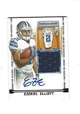 Ezekiel Elliott Rookie Autograph & Jersey card 6/49 ! 2016 Rookies & Stars ROY?