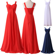 PLUS Formal Long Bridesmaid Dress Evening Formal Party Prom Ball Gowns AU Size
