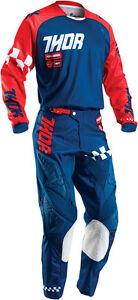 Thor Fuse Rampant Motocross MX Gear Race Kit Red Orange Teal Adults 34 XLarge