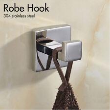 Luxury 304 Stainless Steel Single Robe Towel Hook/Rail/Ring Bathroom Accessories