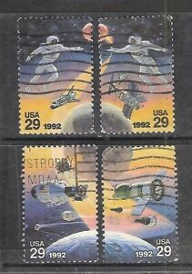 SPACE ACCOMPLISHMENTS #2631-2634 Used US 1992 29c Commemorative Stamp Set