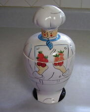 Vintage Ceramic Chef Cookie Jar Kitchen Canister