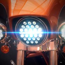 "Eagle Lights 7"" SLIM LINE Multi LED Projection Headlight for Harleys and Indians"