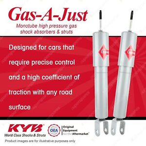 2 x Front KYB Gas-A-Just Shock Absorbers for Hummer H3 3.7 4WD SUV LLR