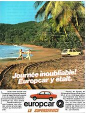 Publicité Advertising 1983 Location de Voiture Europcar
