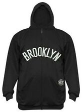 Brooklyn Nets NBA Majestic Boys Synthetic Full Zip Black Hoodie Youth Sizes
